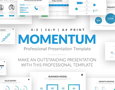 Simple FREE Minimal PowerPoint Template by Louis Twelve on