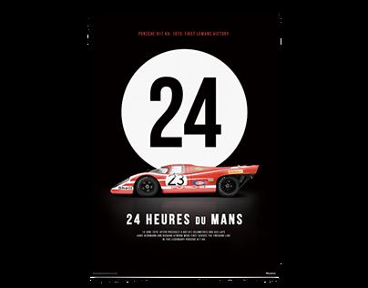 1970, Porsche 917 KH Le Mans poster