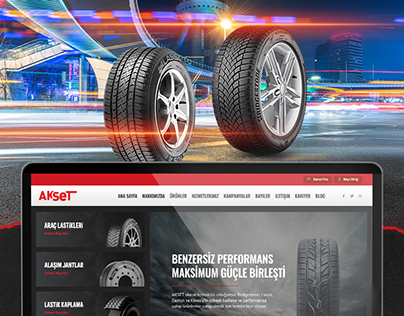 Tyres Company Website Design