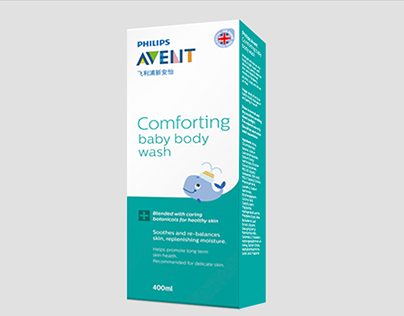 Avent baby skincare packaging