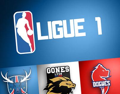 REBRAND - Clubs L1 sur un style NBA