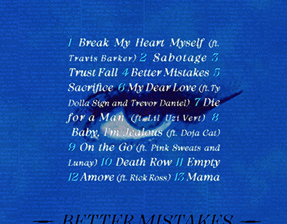 BETTER MISTAKES   Bebe Rexha • Tracklist Design
