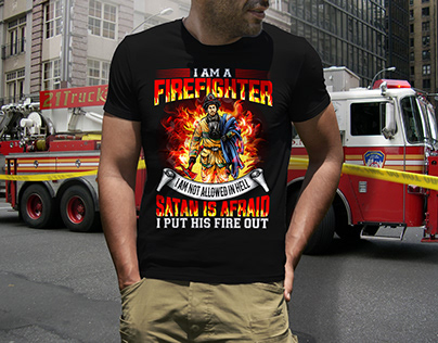 premium quality Firefighter t-shirt design