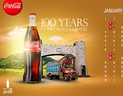 calendar design for coca cola