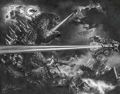 Godzilla vs. Earth's Mightiest Heroes - by Julio Lucas