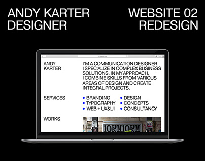 Personal website. Self branding. Redesign