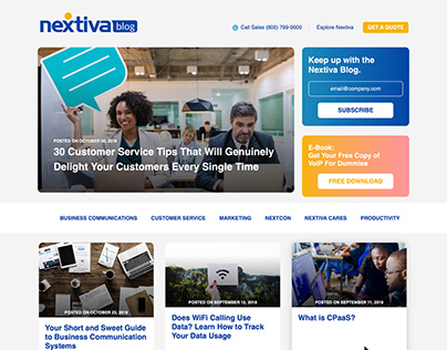 Nextiva Blog Design - Late 2018