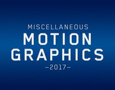 Miscellaneous Motion Graphics — 2017