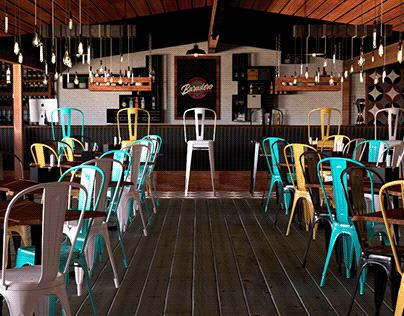 Diseño y Modelado 3D Baradero Pub