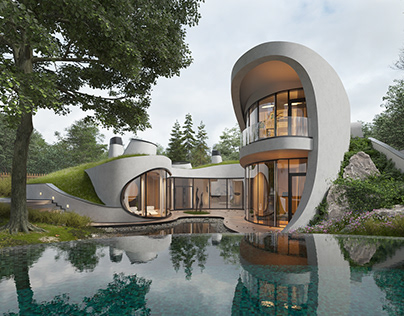 Exterior vizualization house by Niko | Architect