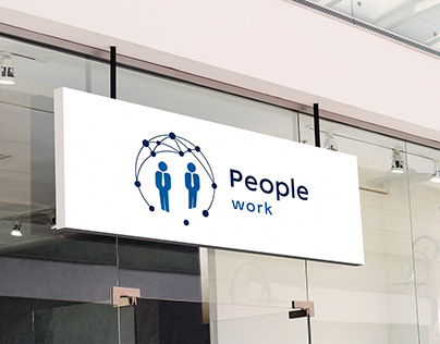 Logo for a company People work.