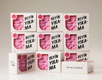 Brain Wash Soap Packaging Design