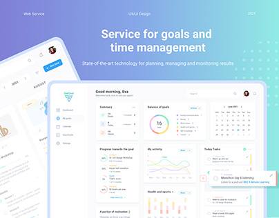 Service for goals and time management - UX/UI Design