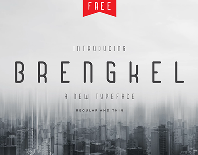 Brengkel - FREE - Condensed Font
