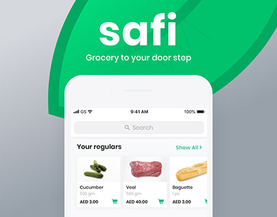 Safi: Grocery Shopping Mobile App UI/UX Case Study