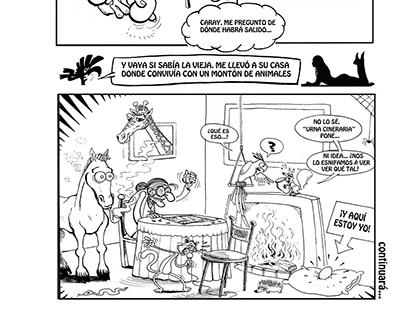 """Página 2 del cómic """"Holly Poppy"""""""