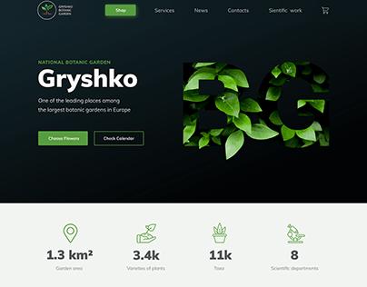 Website Concept / Botanic Garden