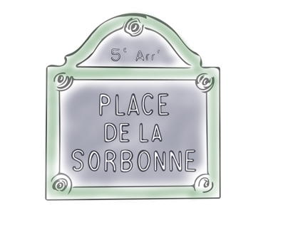Paris street sign illustration