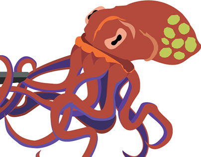 Giant Octopus Poster