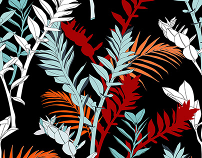 Abstract tropical illustration.