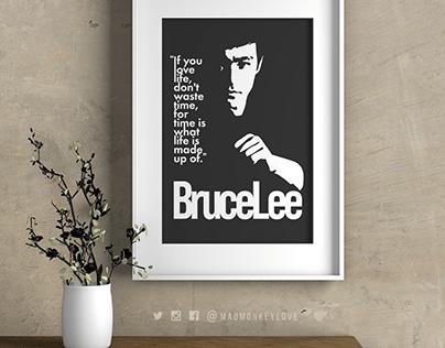 Bruce Lee Typography Print