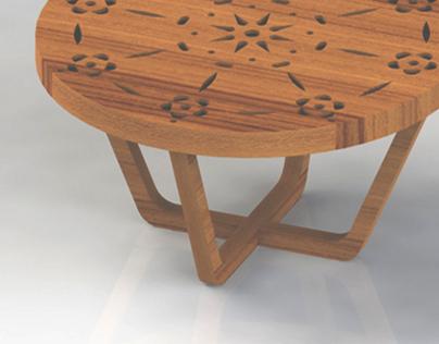 mesa de centro Rendeiras