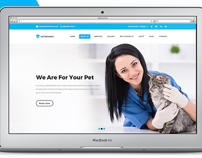 Veterinary Website Mockup