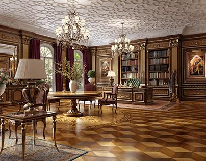 Classical interior room design