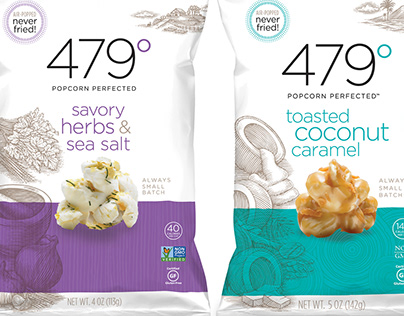 479 Degrees Packaging Illustrated by Steven Noble