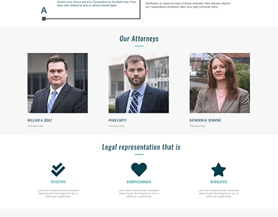 Carty Boaz Website Design