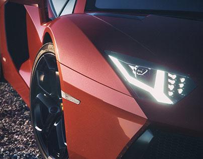VR Stereoscopic 2A Pictures Demo Lamborghini Aventador