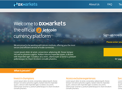 DXM Jetcoin Landing Page