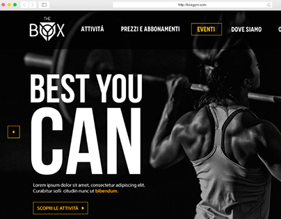 The Box Gym - Website Layout