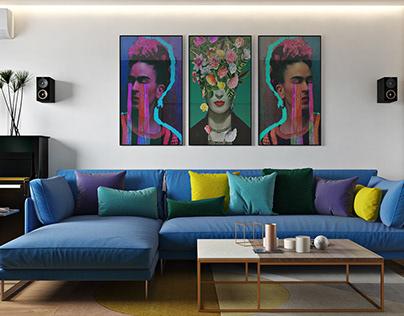 Colored apartment