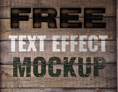 FREE Mock-up Burn, Crack, Paint text FX