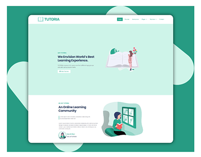 TUTORIA - Learning website template