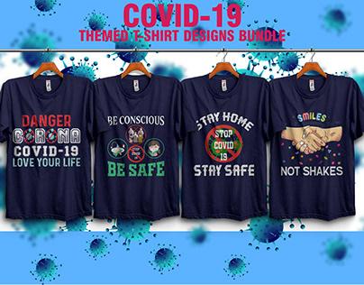 COVID-19 THEMED T-SHIRT DESIGNS BUNDLE