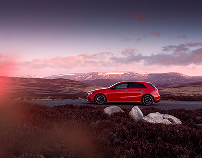 Mercedes-Benz A35 AMG Retouching Project