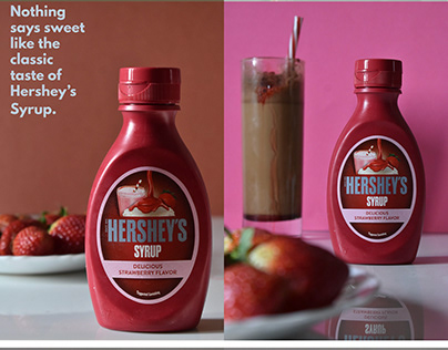 Product Photography and styling - Hershey's syrup