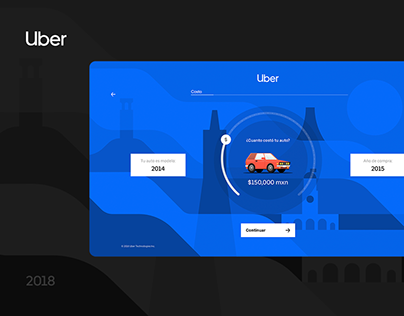 Uber Calculadora — web design