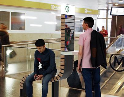 Mobilier connecté RATP - RCP design