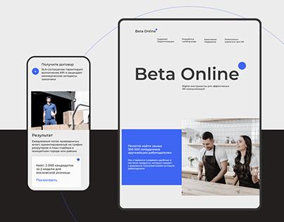 Beta Online digital branding
