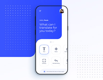 Google Translate - Concept app design