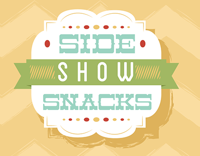 Side Show Snacks; factious food truck branding project