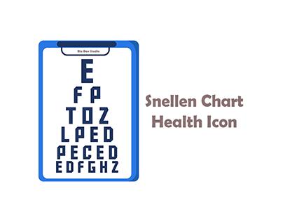 Snellen chart Health Icon