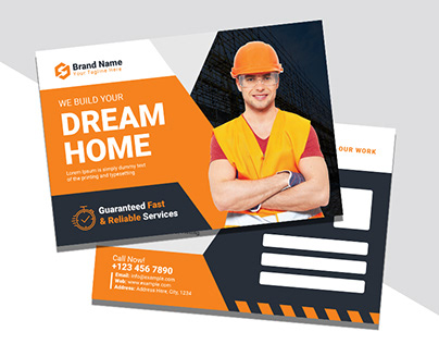 Construction Postcard Design