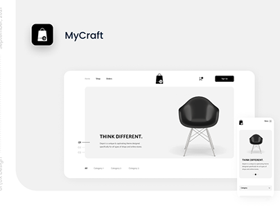 MyCraft E-commerce UI Design