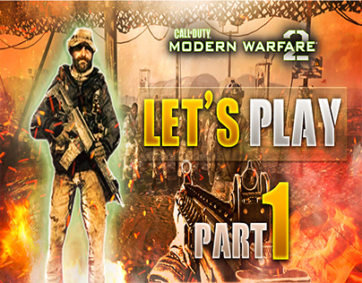 Call Of Duty Modern Warfare 2 Youtube Thumbnail Design
