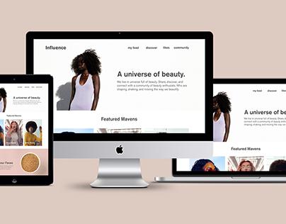 Daily UI | Influence Beauty