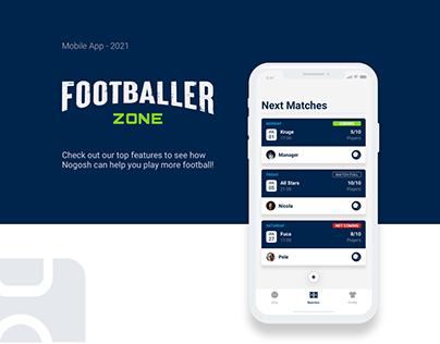 Mobile App - Footballer Zone